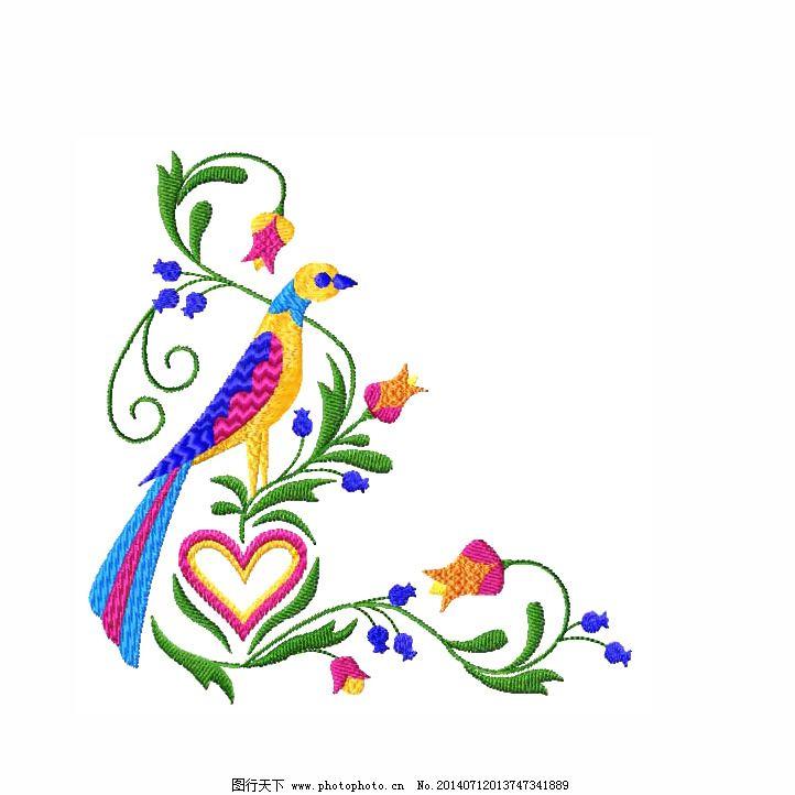 绣花 边角 植物 花朵 动物 免费素材 绣花免费下载 服装图案
