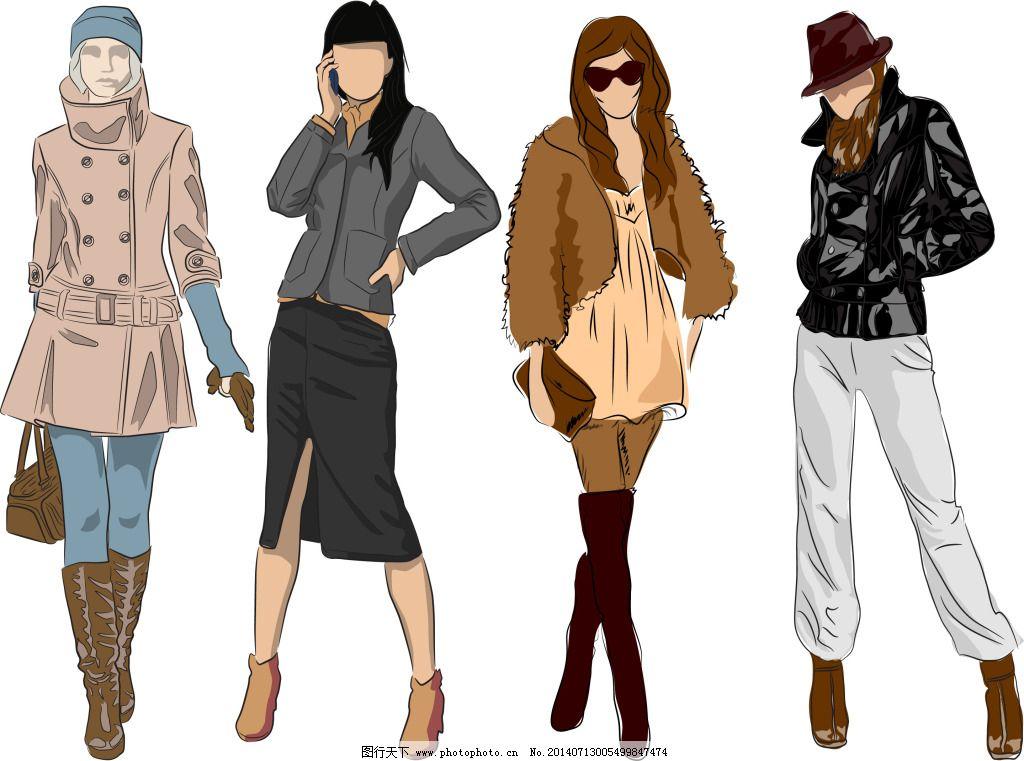手绘女模特免费下载 女模特 时尚 手绘 手绘 时尚 女模特 矢量图 矢
