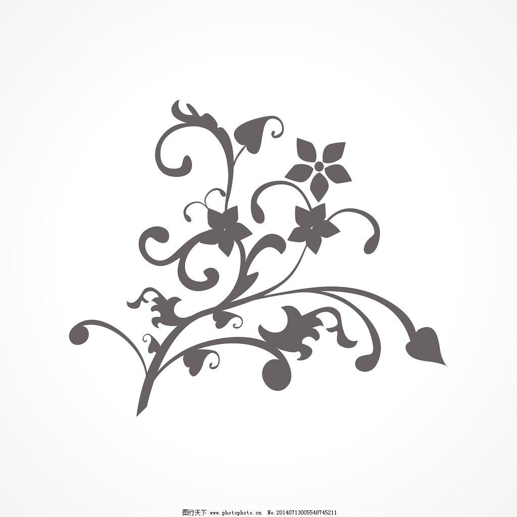 黑色的自然图案的纹身