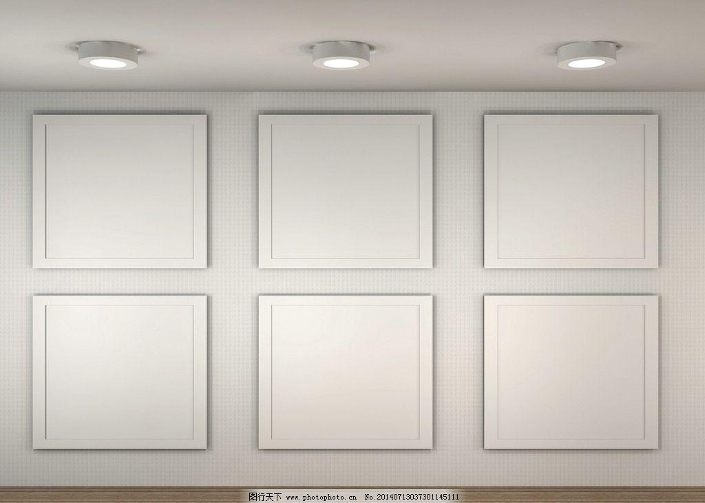 白色背景墙 展板 展览 白色相框 贴图模板 模板 欧式相框 相框 古典家