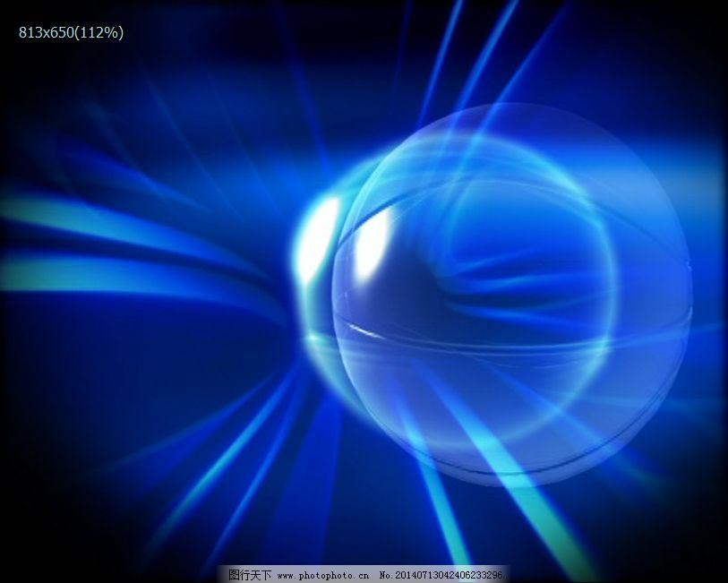 蓝色闪光球体背景视频素材