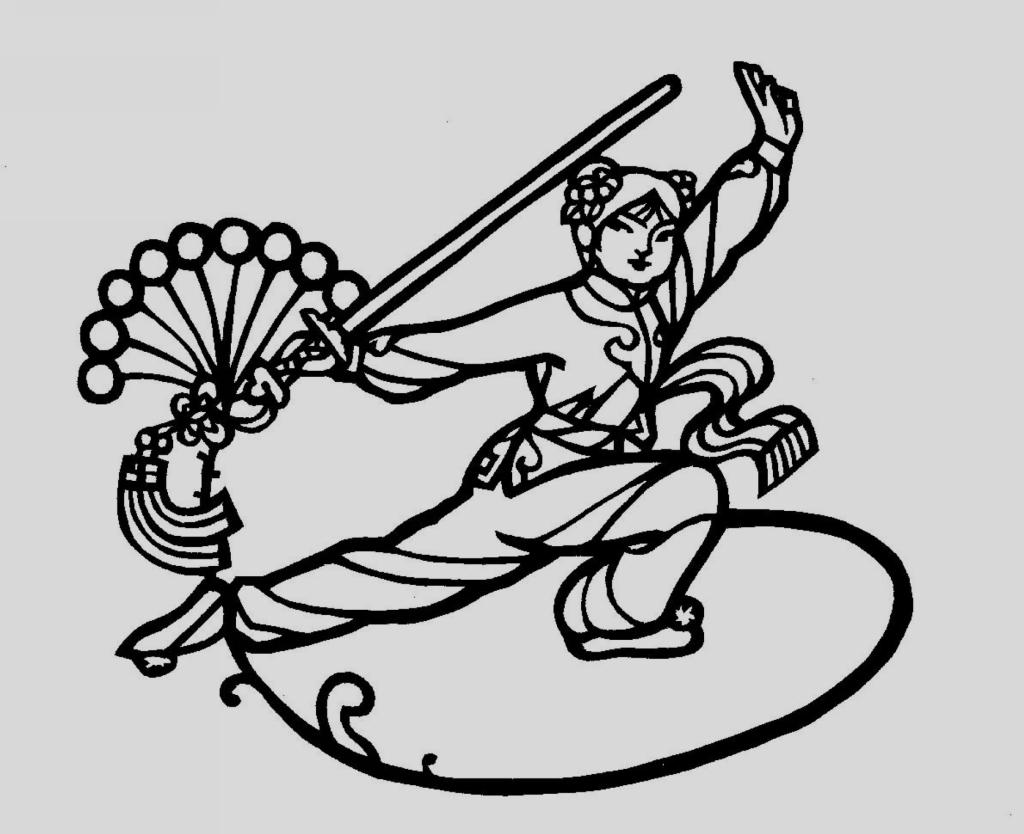 手绘 古风舞剑