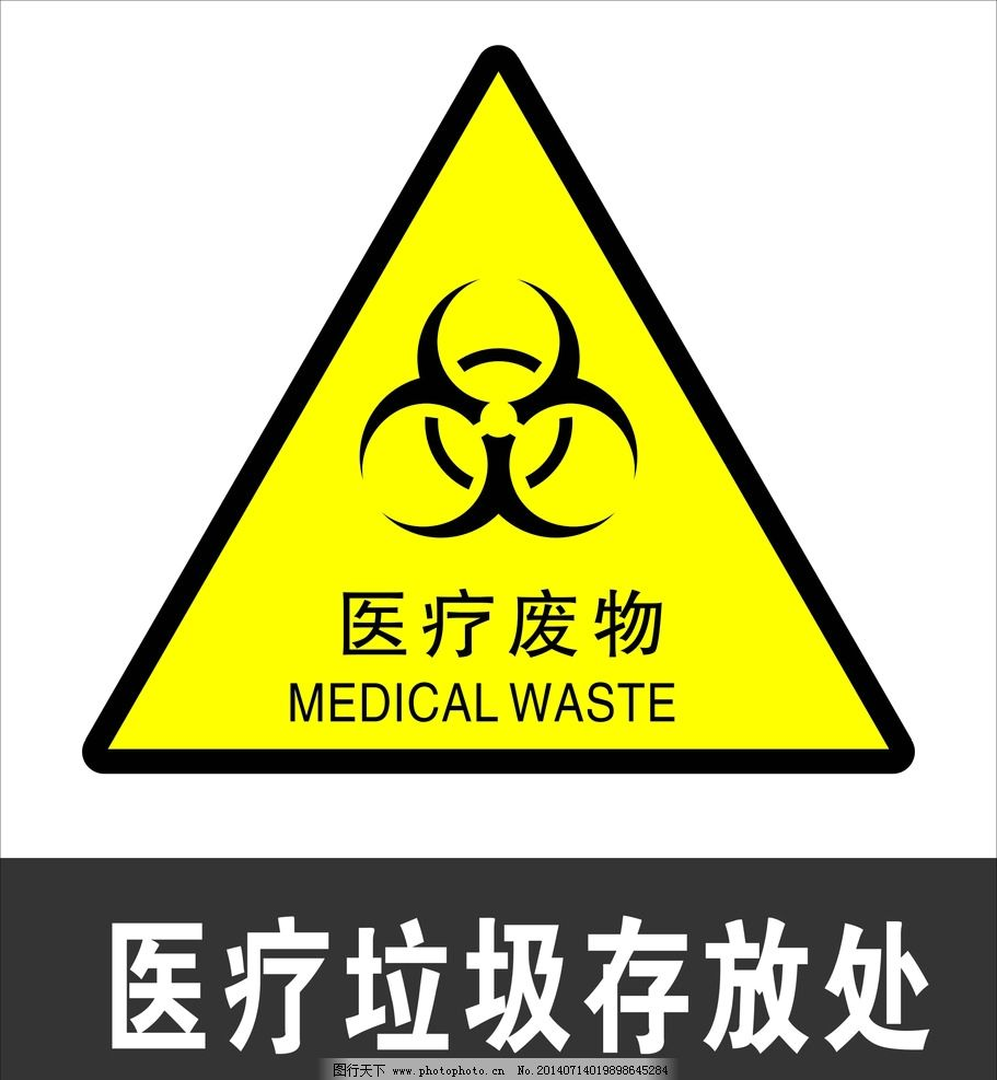 医疗废物标识牌图片图片