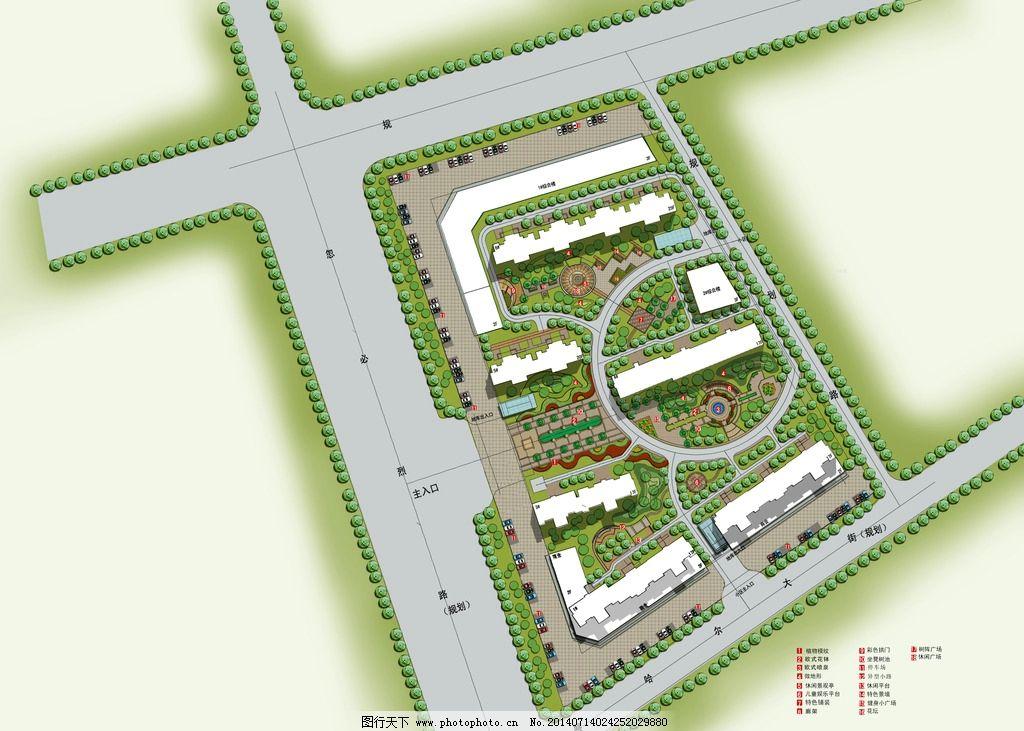 园林景观彩色平面 园林 景观 彩色 平面 设计 psd 建筑园林 自然景观