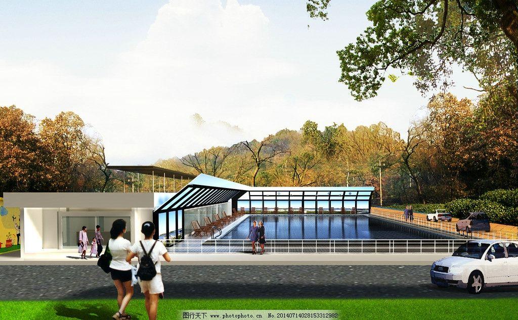 泳池设计 泳池 室外 景观设计 泳池建筑 泳池周边 环境设计 设计 72