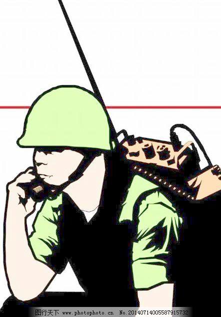 大兵军人漫画 大兵军人漫画免费下载 商业矢量 矢量风景建筑 矢量下载