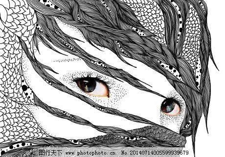 点线面的约会之点睛插画图片