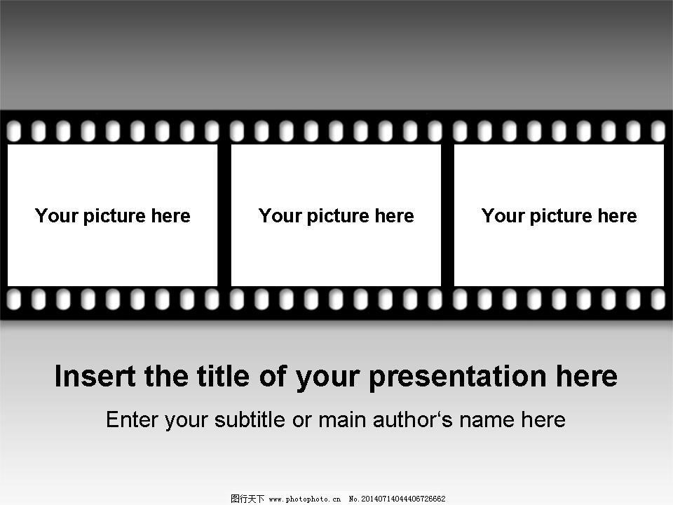 胶片风格商务ppt模板免费下载 电影 黑白 胶片 胶片 电影 黑白 ppt