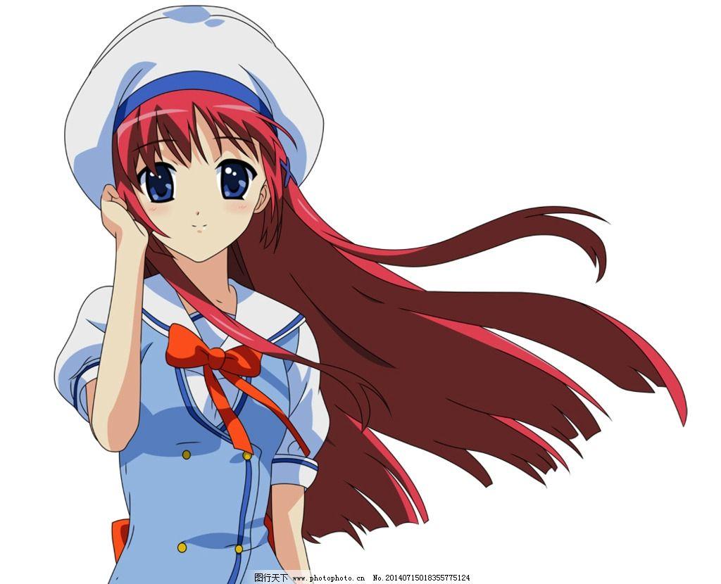 动漫少女 少女 校服 帽子