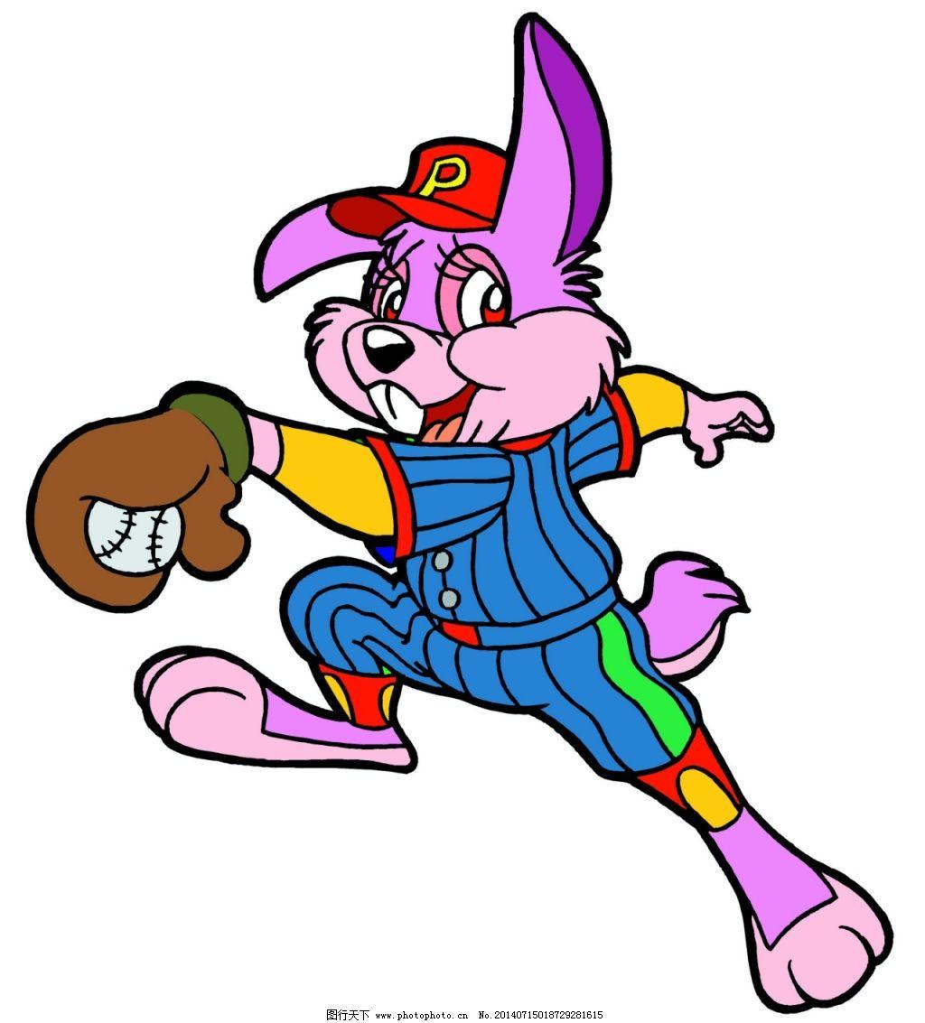 小白兔打网球 小白兔打网球图片免费下载 儿童绘画素材 卡通小动物