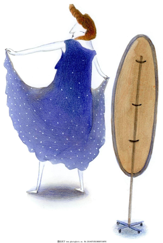 普通裙子画画的图片