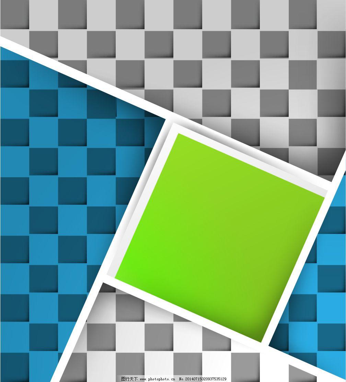 淺蘭綠色立體 壁紙