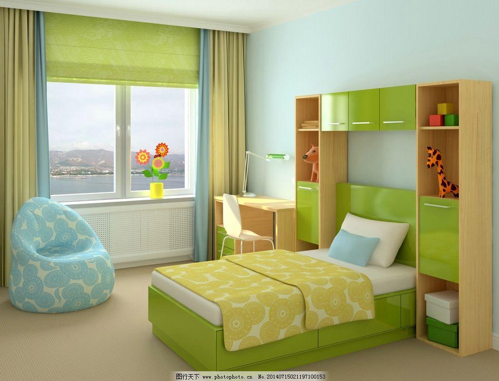 儿童卧室 卧室效果图 卧室设计 卧室装修 卧室装饰 欧式卧室