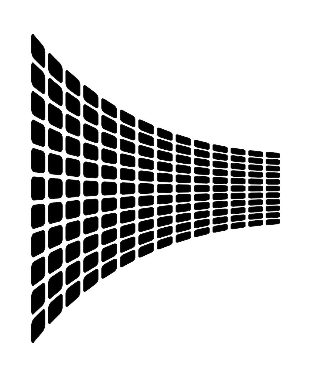 波浪形的正方形平面设计