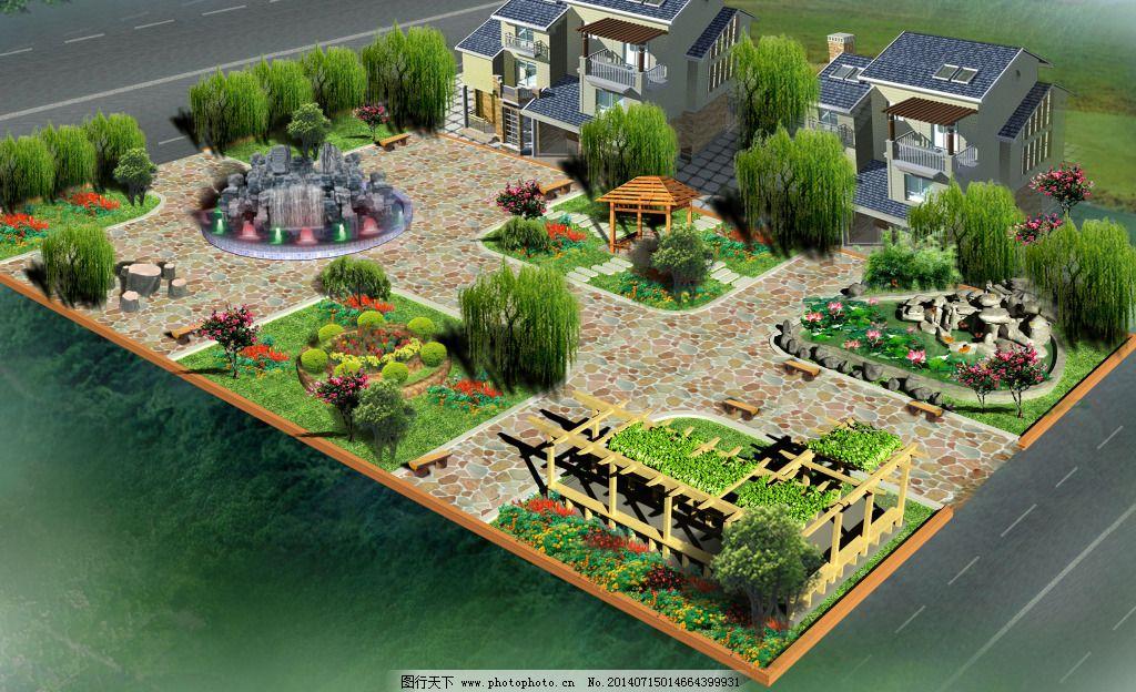 别墅花园效果图免费下载 3d效果图 别墅 花园 别墅 花园 3d效果图