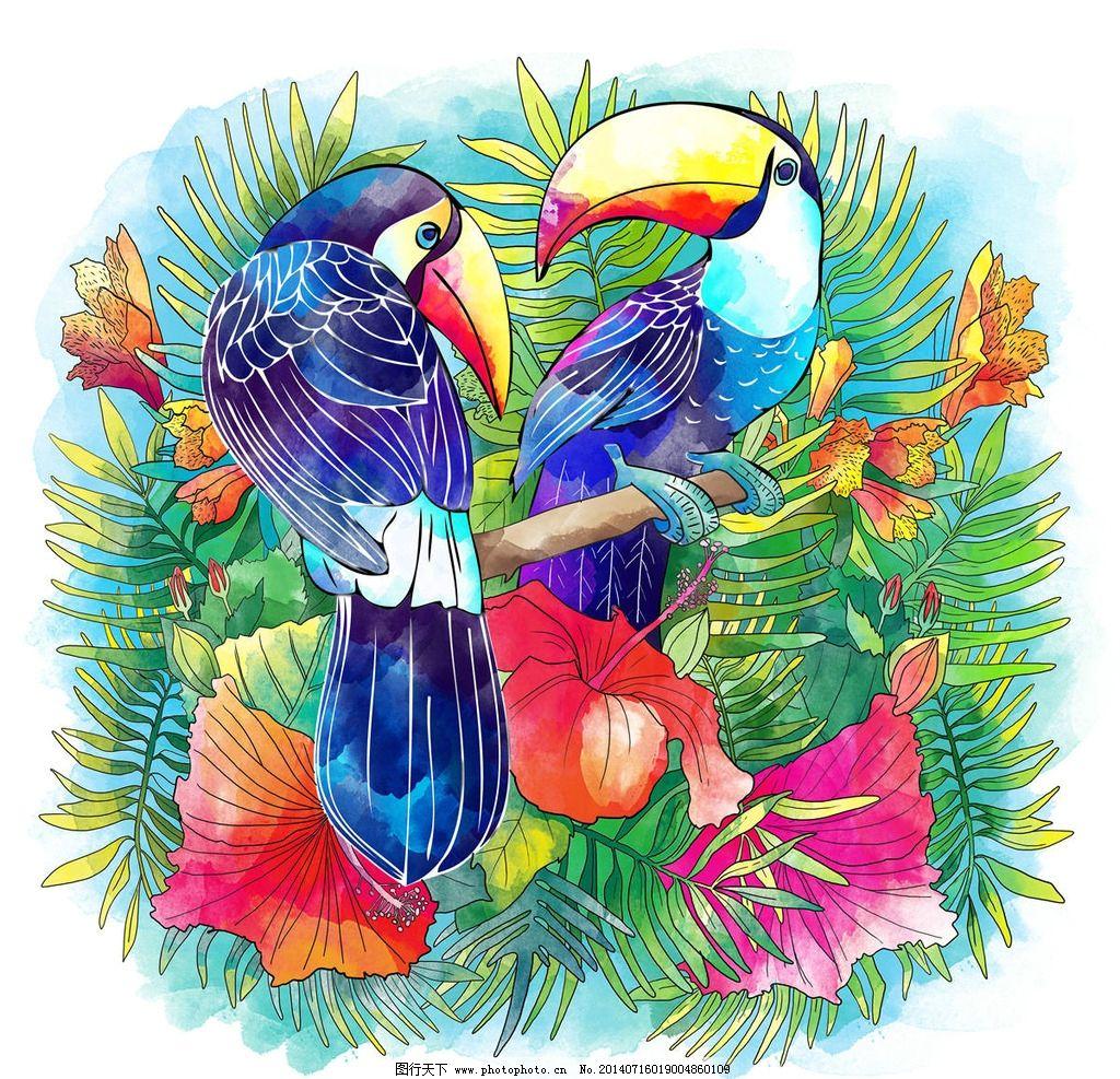 鹦鹉画 油画 素描画 美术作品 鹦鹉 小鸟 绘画书法 文化艺术 设计 300