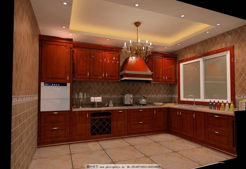 效果图 厨房 圆方 欧式 线条