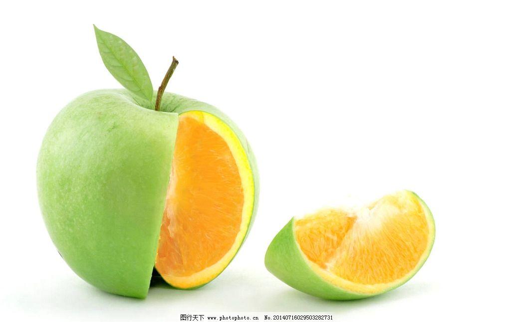 苹果创意水果 苹果 桔子