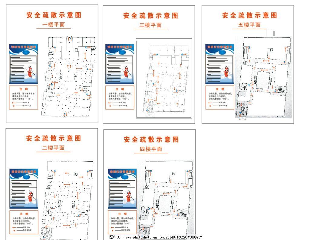 安全疏散示意图 指示 疏散 消防 安全 设计 素材 商场 广告设计 cdr