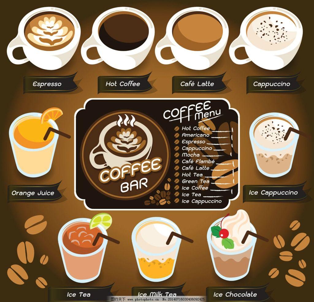咖啡 手绘 欧式花纹 花边 边框 菜单设计 菜单图标 菜单标志 饭店菜