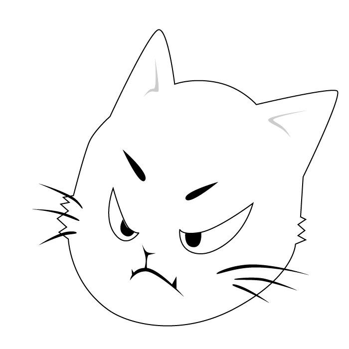 印花矢量图免费下载 表情 服装图案 卡通动物 猫 免费下载 印花矢量图