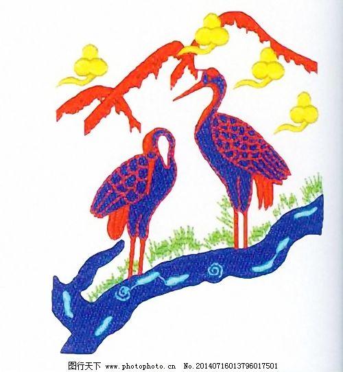 绣花免费下载 丹顶鹤 动物 服装图案 家纺 免费下载 绣花 绣花 动物