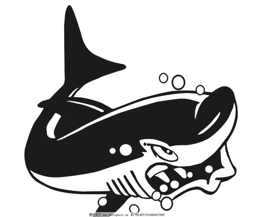 卡通漫画鲨鱼 卡通动物 海洋生物 鲨鱼 鱼 凶狠的鲨鱼 鱼类 其他 动漫