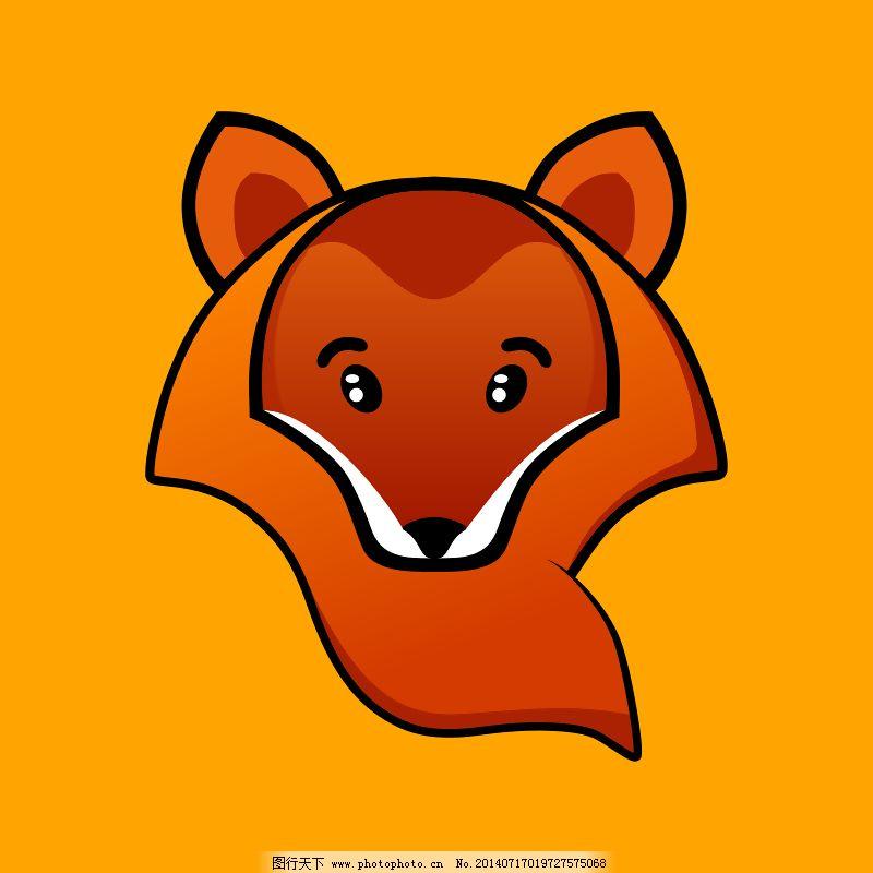 狐狸免费下载 橙 动物 狐狸 卡通 头 颜色 动物 卡通 颜色 狐狸 头 橙
