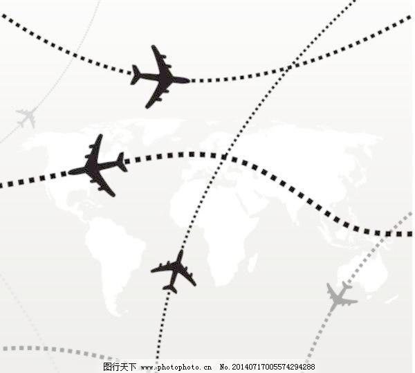 矢量地图的飞机