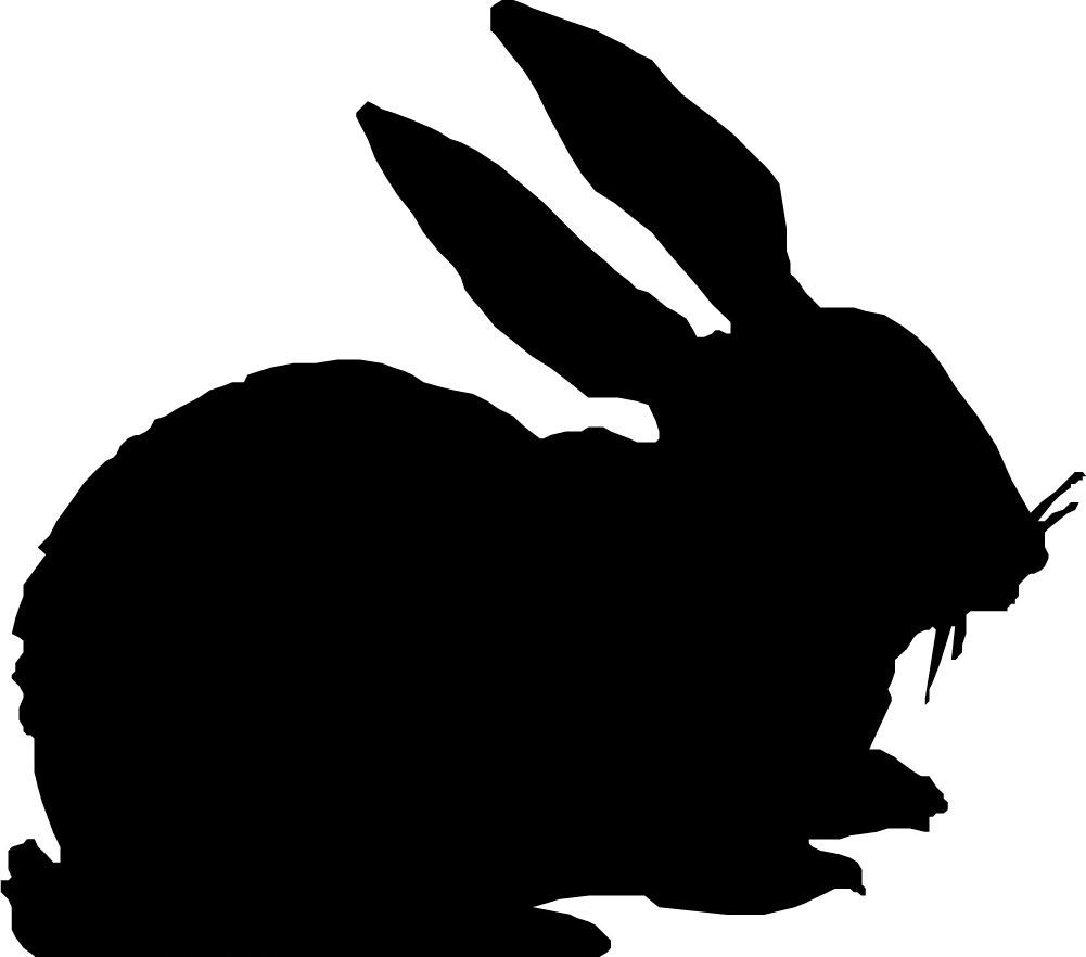 色彩 兔子 位图 位图 动物 兔子 色彩 黑白色 面料图库 服装图案 免费