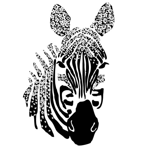 印花矢量图 色彩 黑白色 花纹 抽象动物 面料图库 服装图案 免费下载