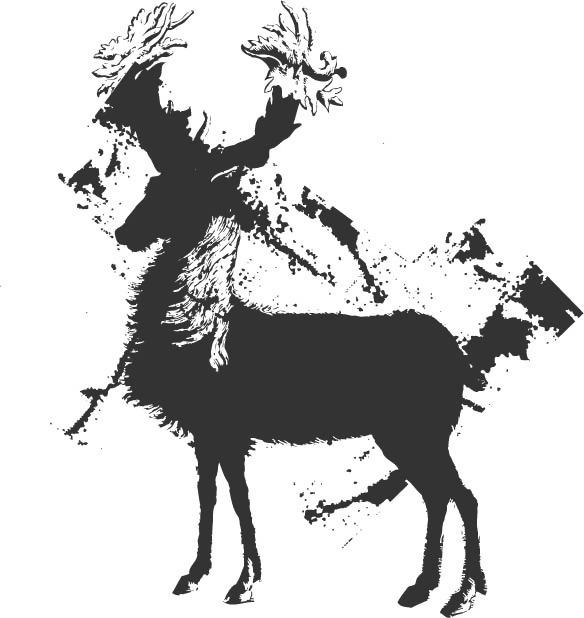 印花矢量图 动物 抽象动物 色彩 花纹 免费素材
