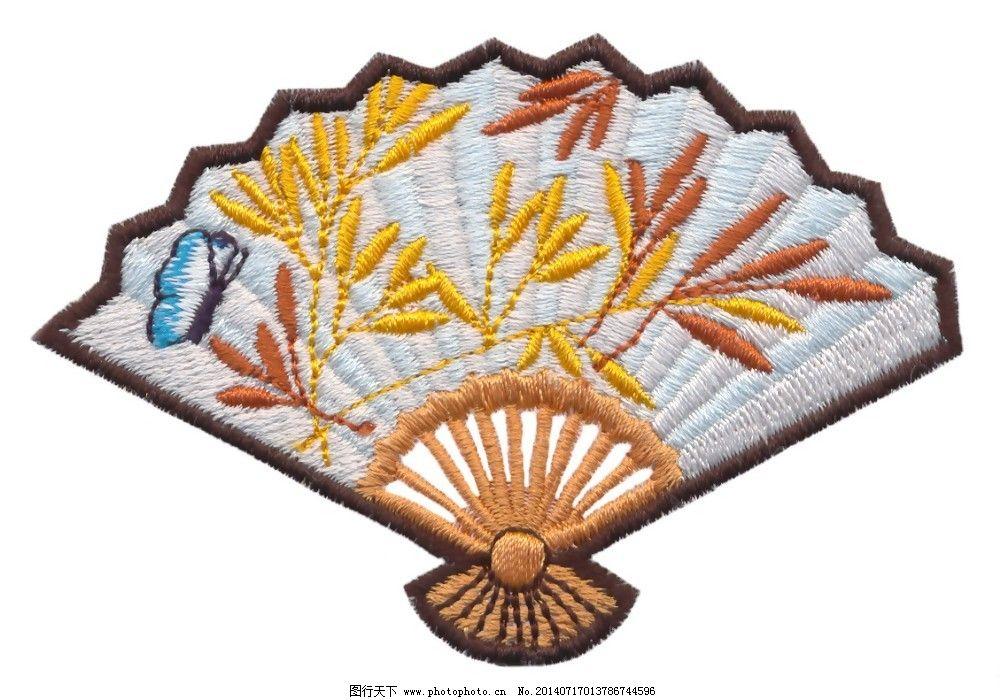 绣花 植物 草 动物 蝴蝶 免费素材