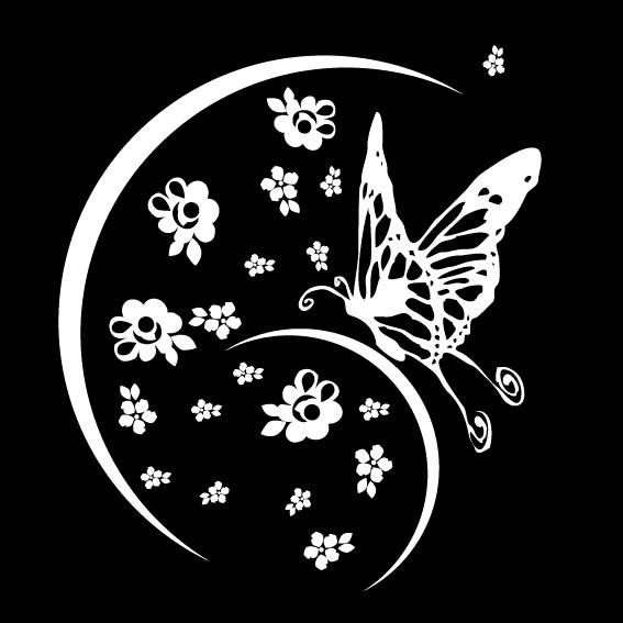 蝴蝶矢量图黑白