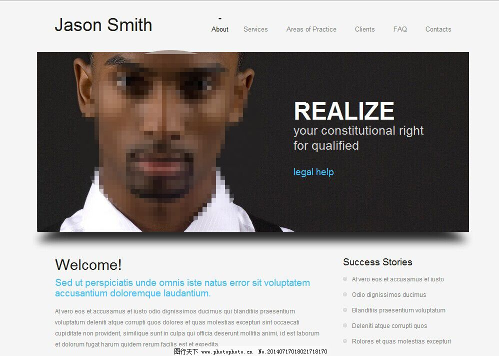 商务简洁咨询企业网站模板
