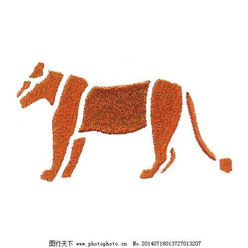 绣花免费下载 橙色 动物 服装图案 免费下载 色彩 狮子 绣花 绣花