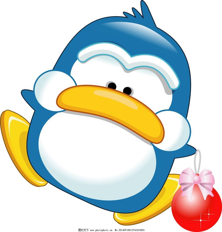 印花矢量图 卡通动物企鹅 气球 可爱卡通 色彩 免费素材
