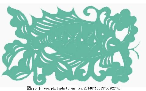 位图 动物 鱼 花纹 花边 免费素材