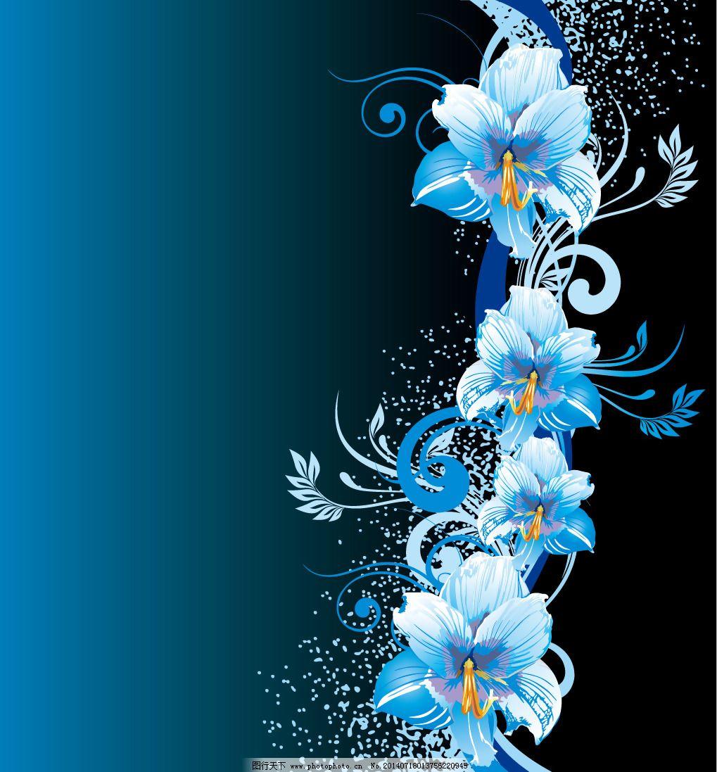 印花矢量图 优雅植物 花
