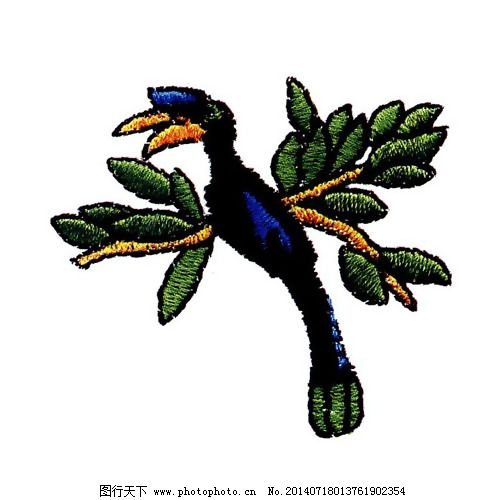 绣花免费下载 动物 服装图案 黑色 免费下载 鸟类 色彩 绣花 绣花
