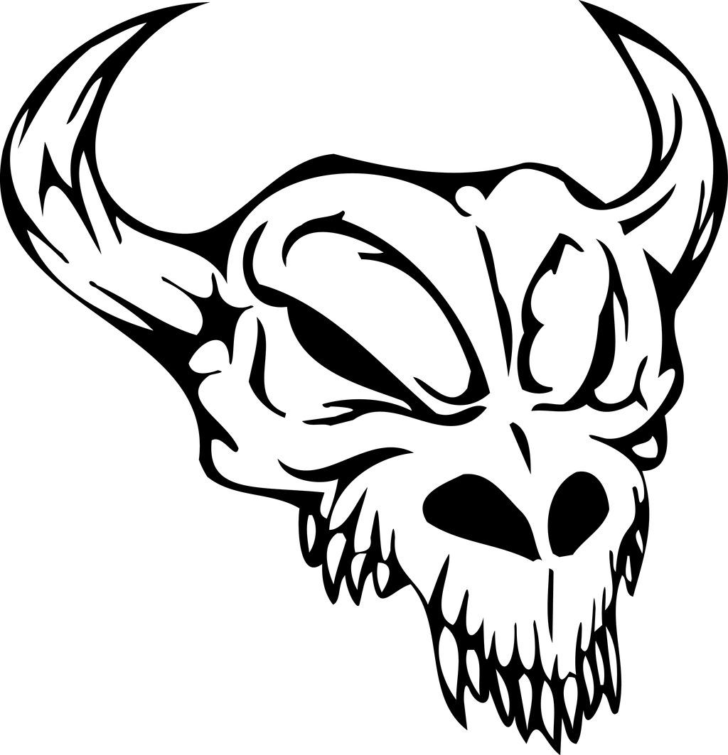 印花矢量图 动物 羊头 灵异 骷髅头 免费素材