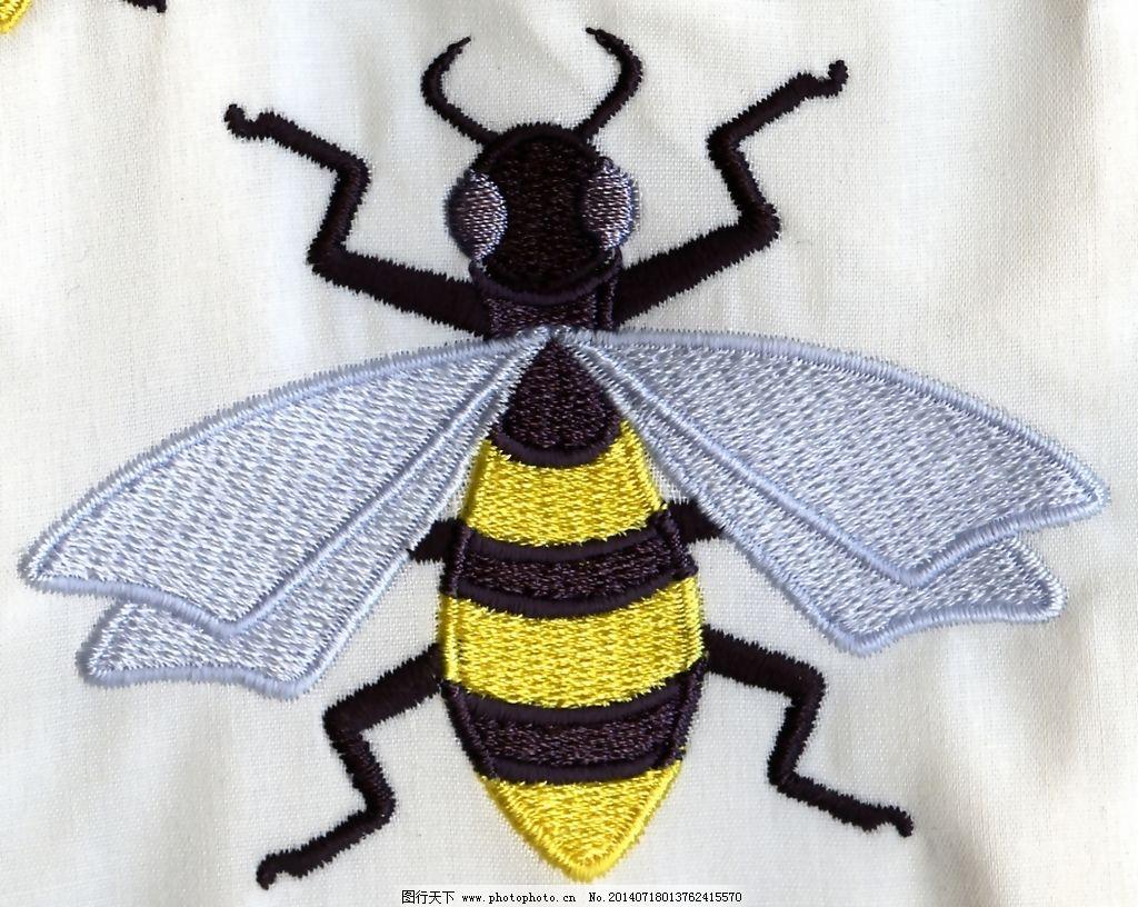 绣花 动物 昆虫 蜜蜂 色彩 免费素材