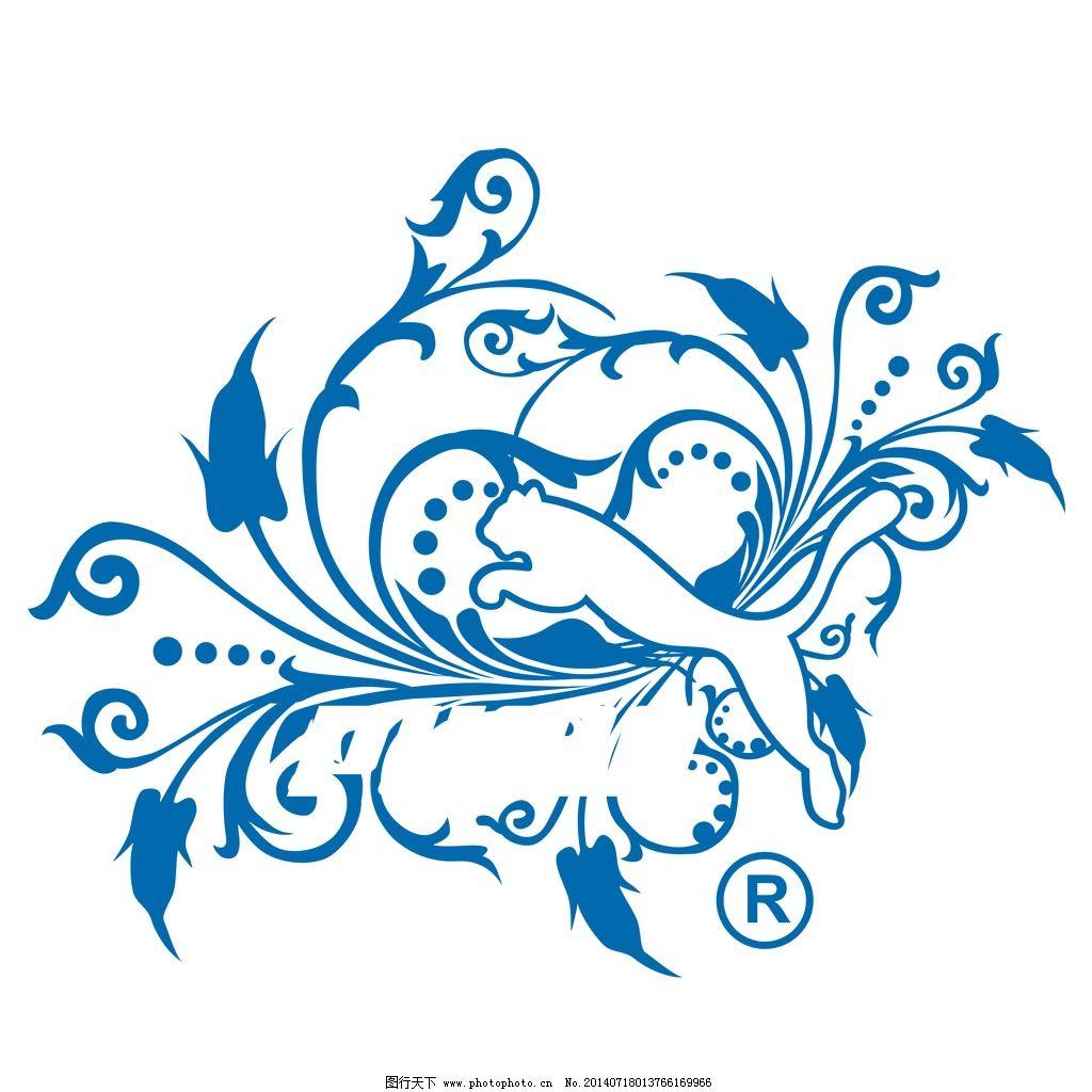 印花矢量图 动物 豹草树