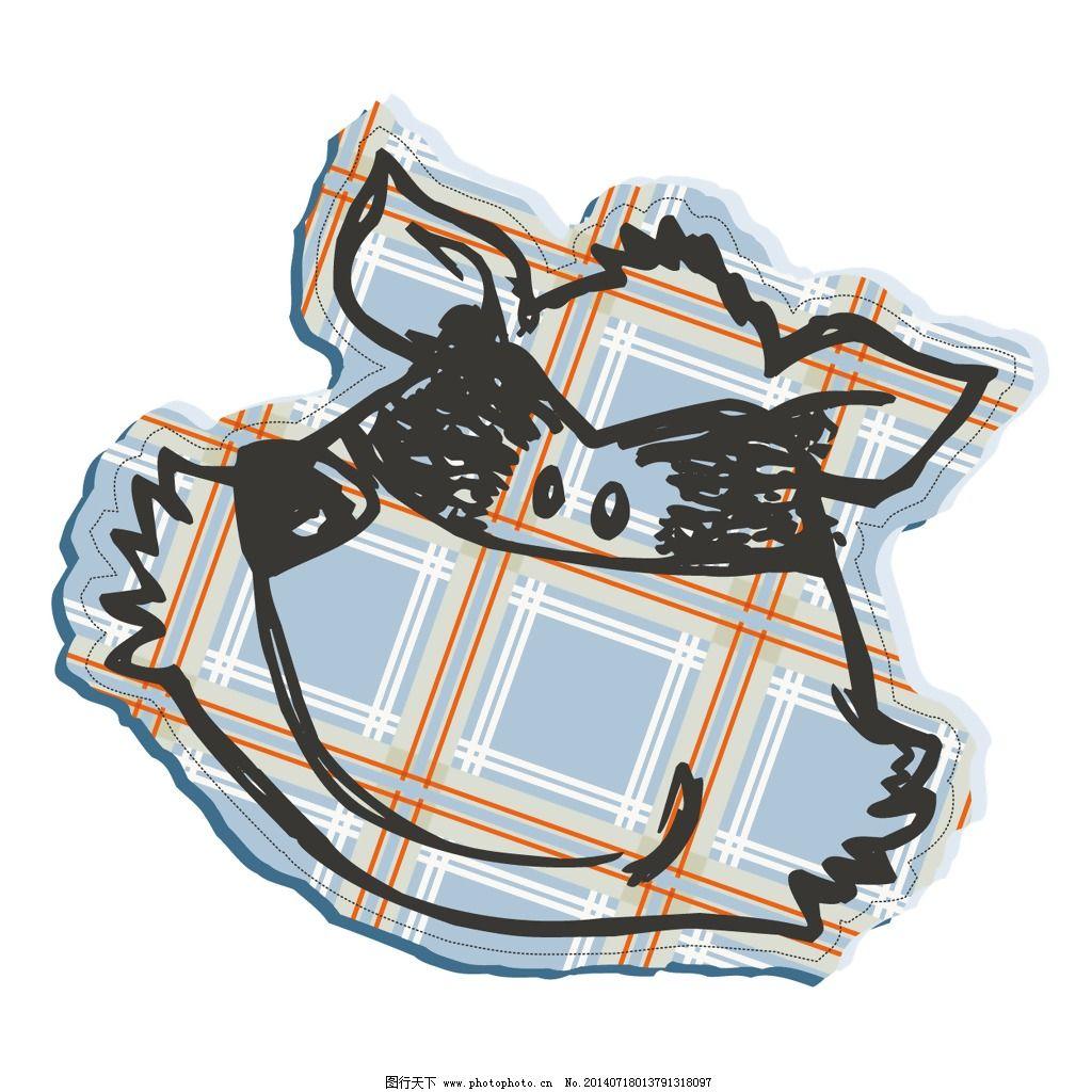 印花矢量图 可爱卡通 动物 狐狸 花纹 免费素材