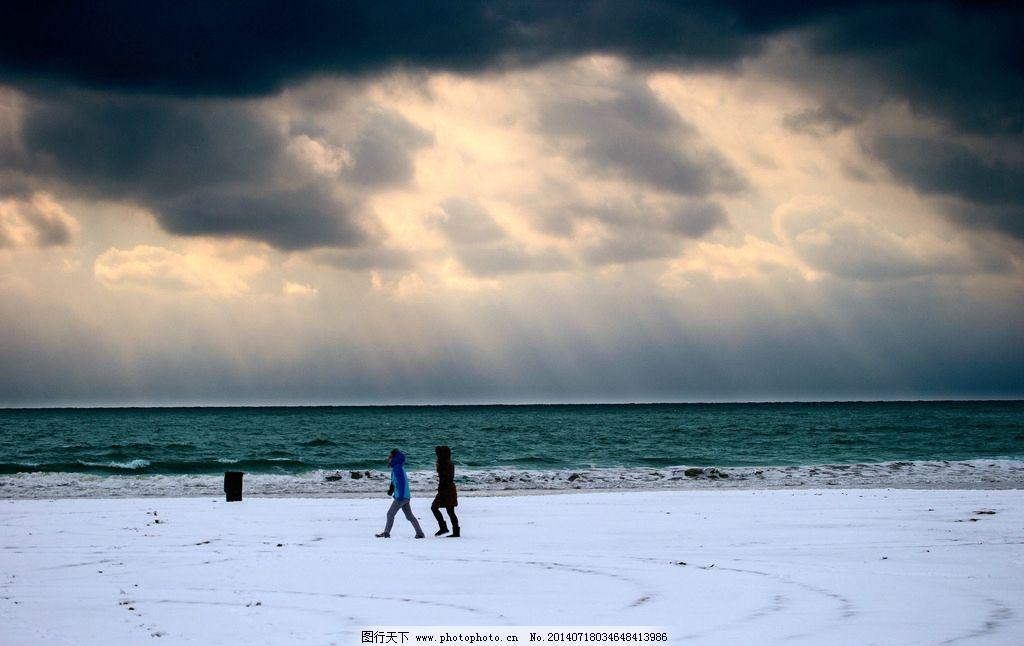 雪中海滨 青岛 雪天 青岛石老人 青岛风景 青岛景点 青岛风光