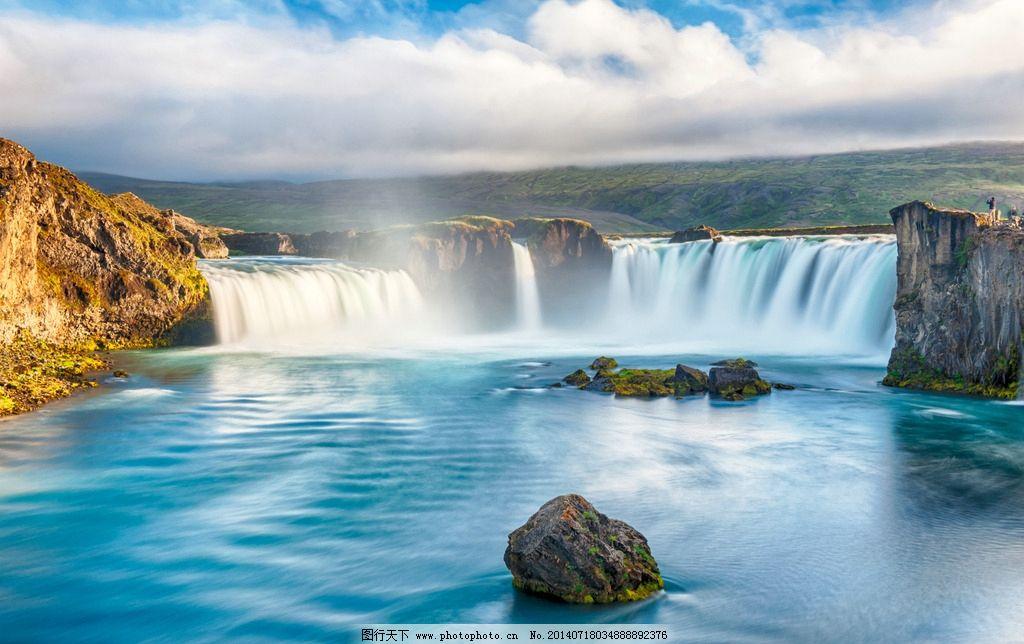 冰岛冰岛瀑布瀑布风景图片
