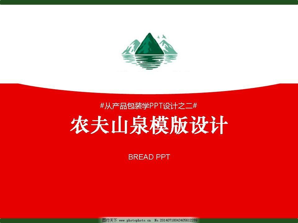 农夫山泉模版设计免费下载 红色 清澈 水 红色 清澈 ppt ppt背景模板图片