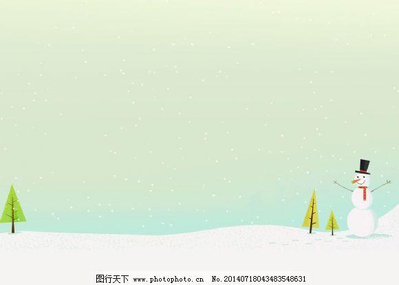 背景 ppt/雪人淡雅背景PPT模板