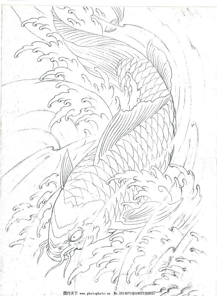 牡丹花纹身图案 臂环图腾图片