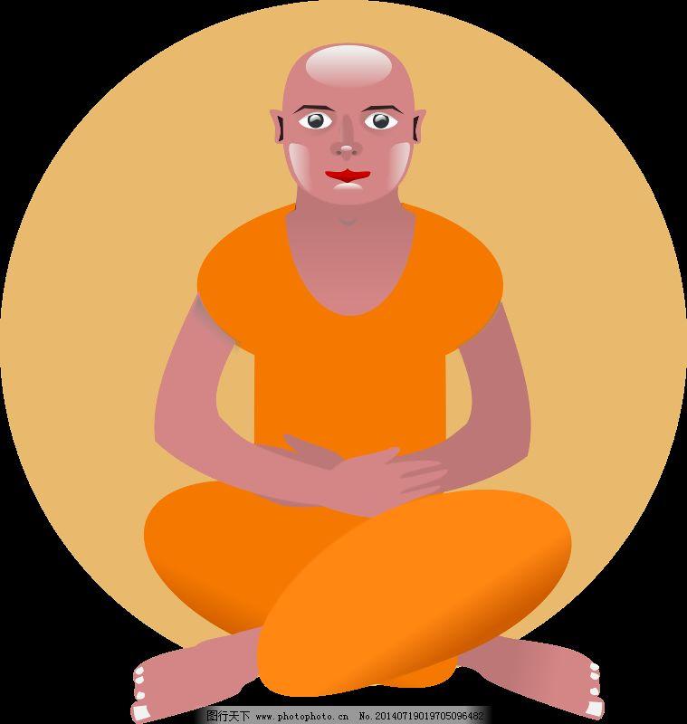 印度教在森林中的冥想